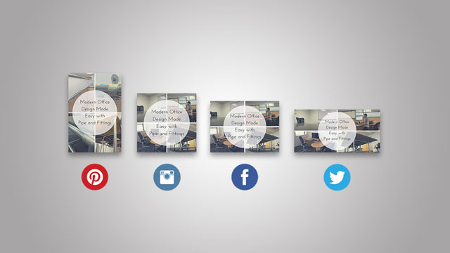 Social Media Web Graphics for Client - Simplified Building