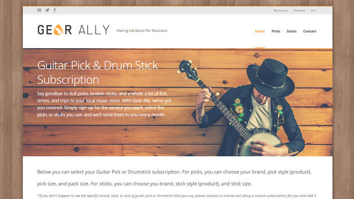 Web Design & Development for Gear Ally
