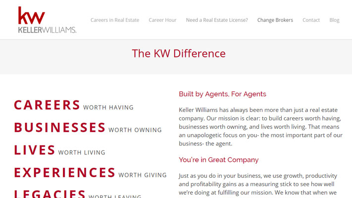 KW Triangle Careers - Sample Website