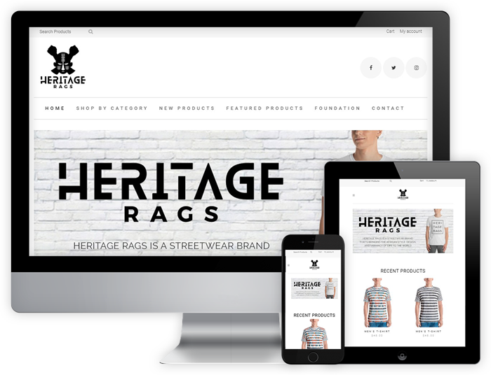 Clothing Website on Desktop and Mobile